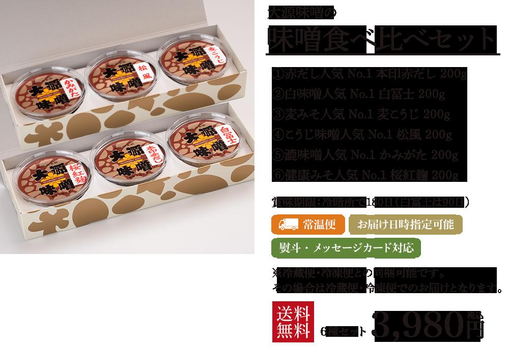 大源味噌の味噌食べ比べセット