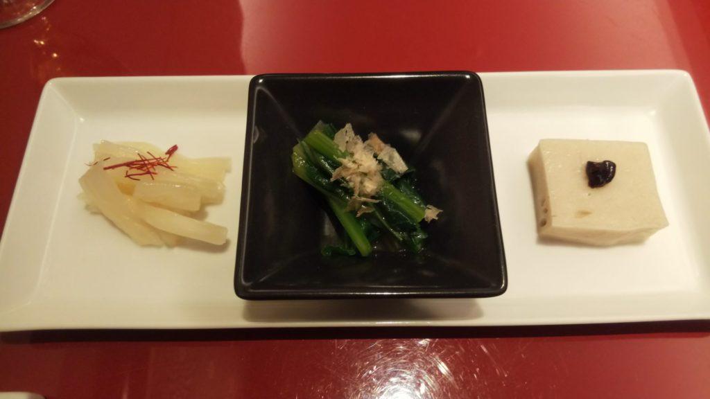 麺処NAKAJIMAの前菜